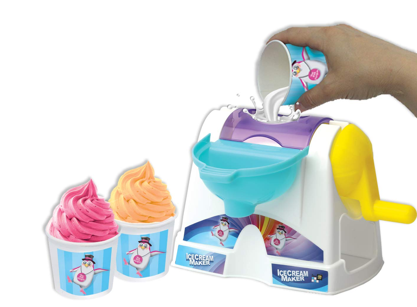 AMAV Toys Ice Cream Maker Machine Toy - Make Your Own Home Made Ice - Cream Multi Color by AMAV Toys