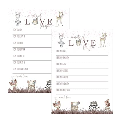 Amazon Com Woodland Friends Wishes For Baby Shower Set Of 25