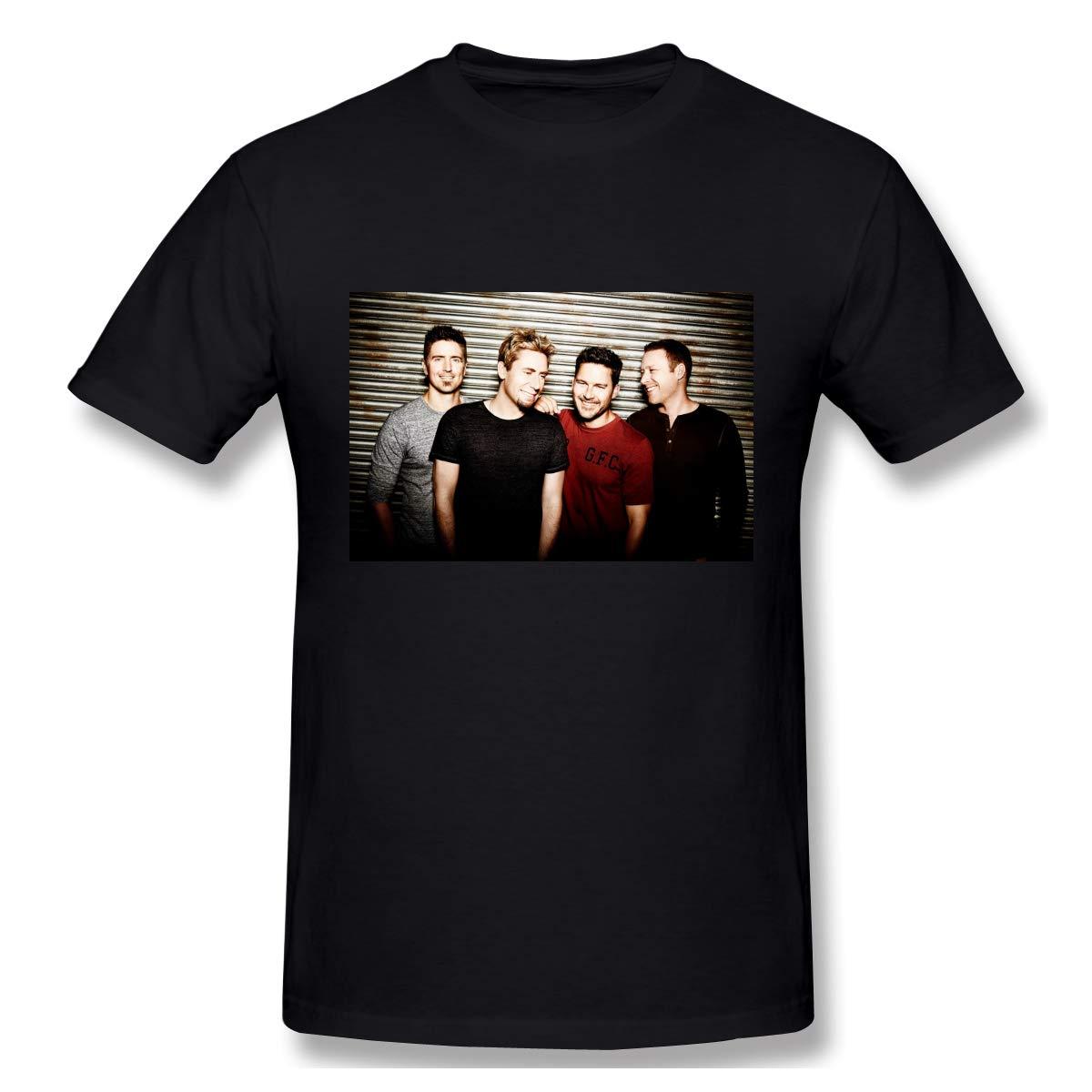 S Logo Of Nickelback Fashion Black T Shirts Short Sleeve