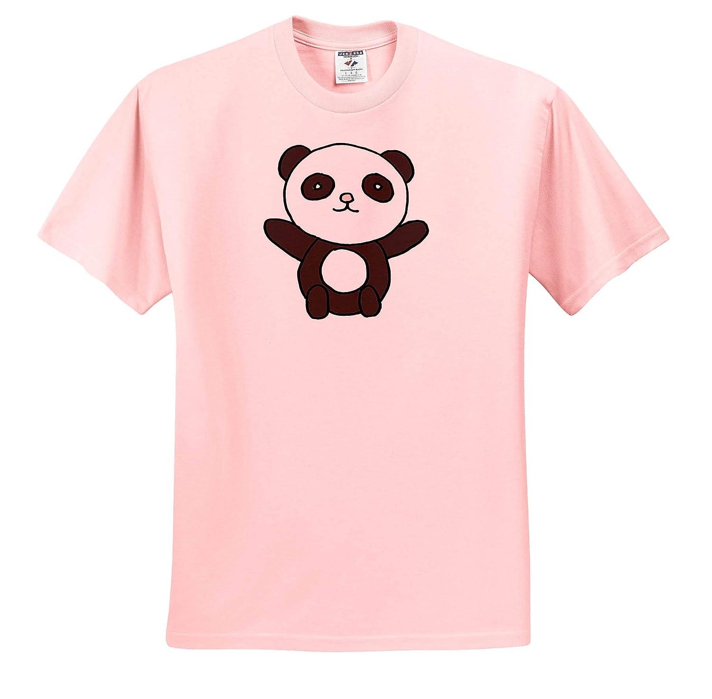Animals Adult T-Shirt XL 3dRose All Smiles Art Funny Cute Kawaii Panda Bear Cartoon ts/_315271