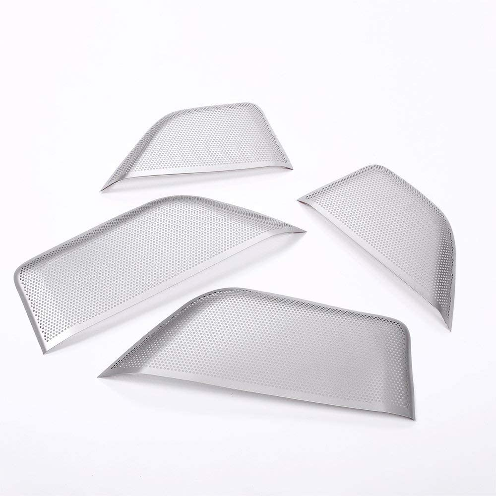 4Pcs Aluminum Alloy for Maserati Levante 2016 2017 2018 Car Door Speaker Cover Trim