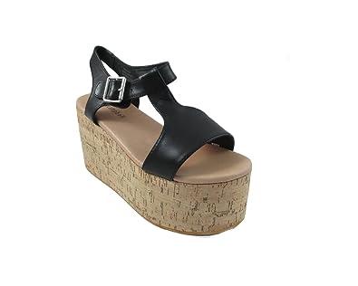 Jeffrey Campbell Weekend Leather, Chaussures à Talons à Bout Ouvert Femme, Noir, 40 EU