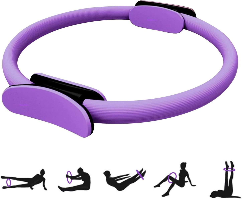 HebyTinco Círculos Profesionales de Yoga, Anillo de Pilates con asaentrenamiento para Resistencia y Flexibilidad, Anillo de Doble asa de Pilates