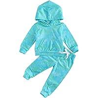 Bebé Niños Traje Invierno 2 Piezas Conjunto para Recién Nacido Camiseta + Pantalones de Terciopelo Chándal Ropa…