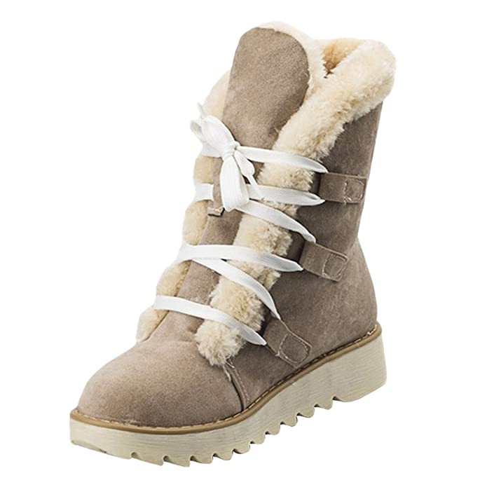 Damen Winter Knochel Stiefel Gezeichnet Stiefel Schnuren Wohnung