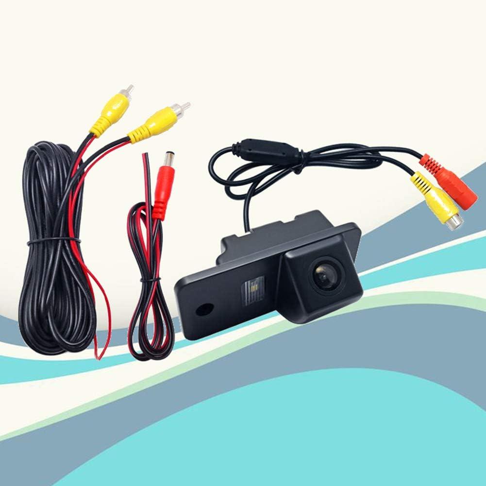 Environ qhtongliuhewu Cam/éra de recul HD /étanche DC 12 V pour Audi A3 A4 A6 A8 Q5 Q7 A6L 7 cm x 3,2 cm x 2 cm