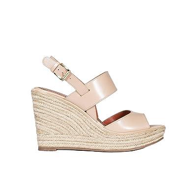 Femme Whaj56448znarbgnc35 Cuir Chaussures Beige Santoni Compensées dxoCBe
