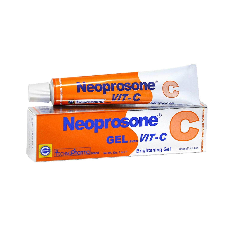 Neoprosone, Vitamin C Gel   1 Fl oz / 30 Ml   Fade Dark Spots on: Neck, Face, Body, Armpit, Hands   Hyperpigmentation Treatment, For Women and Men, with Alpha Arbutin