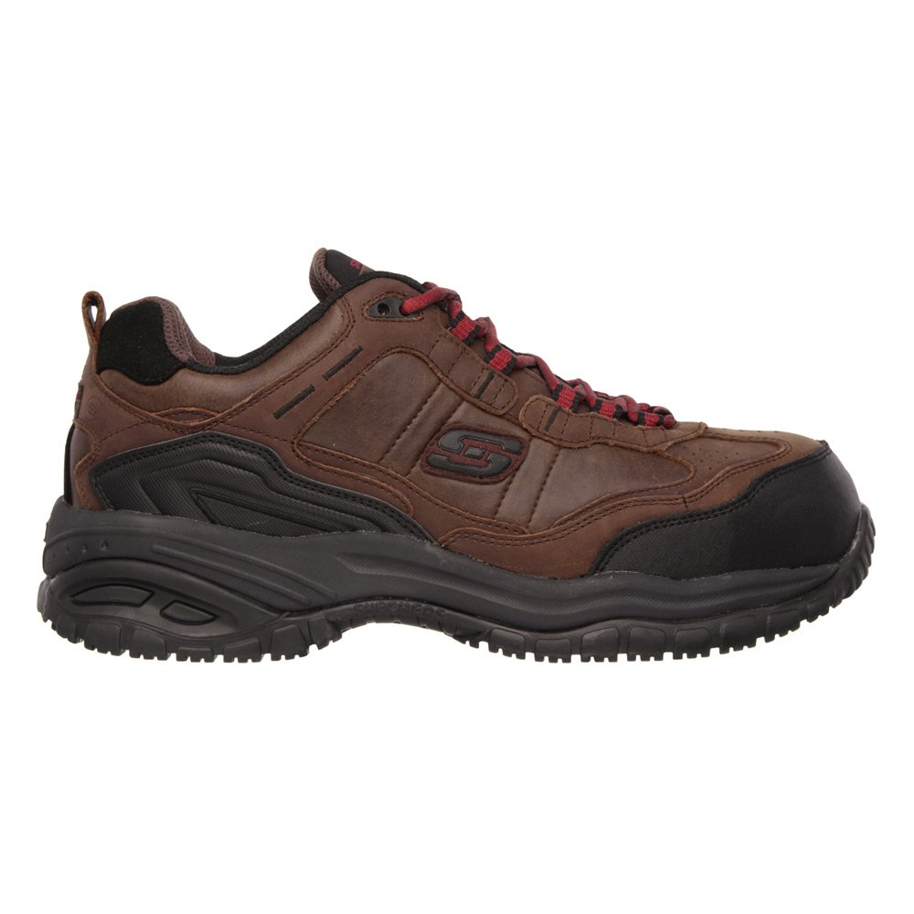 Skechers Work Soft Stride Constructor II Athletic Slip Resistant Hiker Boot Chocolate