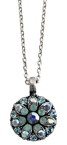 Mariana Guardian Angel Crystal Pendant Necklace, 16 Aqua Pacific Blue 5212 26770