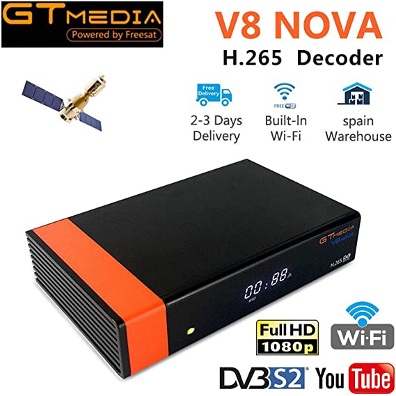 GTMEDIA V8 Nova Receptor SATÉLITE: Amazon.es: Informática