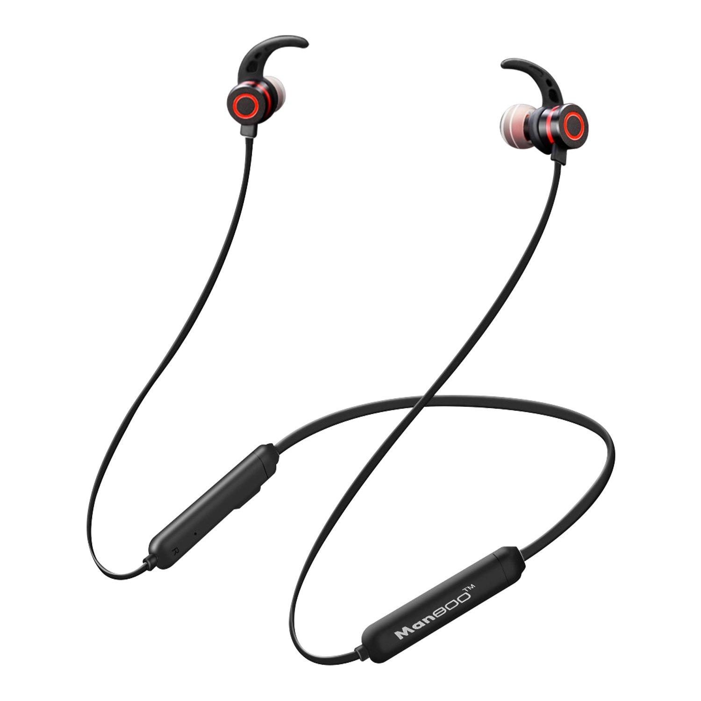 4.2 Auricular Bluetooth, Auricular Bluetooth Con Cancelación De Ruido Mamboo Neckband, Estéreo IPX5 Waterproof Sport Auricular Con Micrófono para Android iPhone Ipad (Protección Contra El Sudor Manboo MBLYEJ001