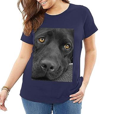Louis Berry Camiseta de algodón para Mujer con diseño de Cachorro ...
