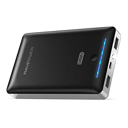 Portable Charger RAVPower 16750mAh Power Bank, Time-Tested USB Battery Pack with Dual 2.0 USB Ports/Flashlight, 4.5A Max Output Cell Phone Charger ...