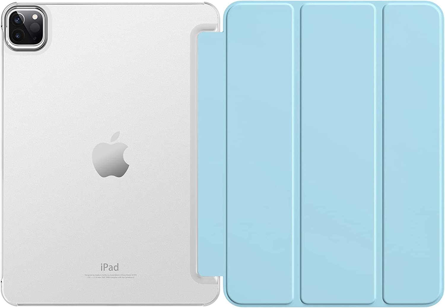 Dadanism Case for New iPad Pro 11 inch Case 2021(3rd Gen), [Support 2nd Gen Apple Pencil Charging] Slim Lightweight Semi-Translucent Shell for iPad Pro 11