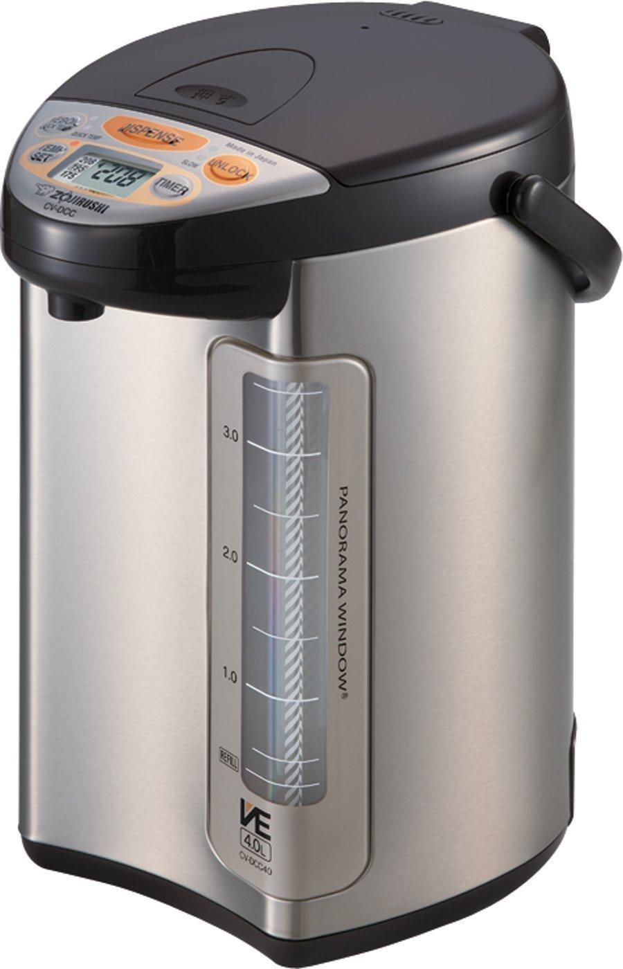 Zojirushi 586361-CV-DCC40XT America Corporation Ve Hybrid Water Boiler And Warmer, 4-Liter, Stainless Dark Brown (Renewed)