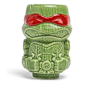 Geeki Tikis Teenage Mutant Ninja Turtles Mini Tiki Mug RAPHAEL, LEONARDO, MIKEY or DON (Red (RAPHAEL))