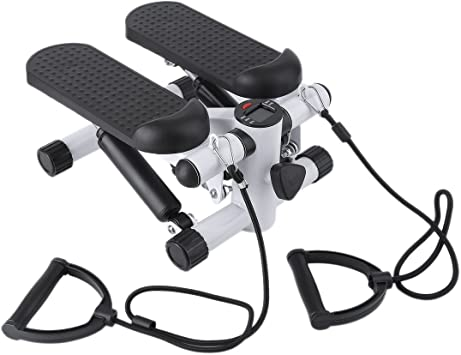 Huldaqueen Escalera para escaleras, ejercicio y fitness con bandas de resistencia, escalón para gimnasio en casa: Amazon.es: Deportes y aire libre