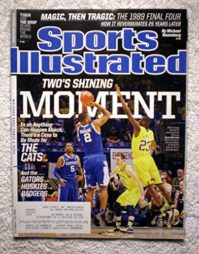 Aaron & Andrew Harrison - The Kentucky Wildcats defeat the Michigan Wolverines 75-72 - NCAA Tournament - Sports Illustrated - April 7, 2014 - College Basketball - Caris LeVert, Nik Steuskas - SI (Kentucky Sports Illustrated)