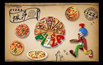 SKTYEE Personalizado papel tapiz 3d mural pizzería restaurante occidental hotel fondo pared avanzada material impermeable, 200x140 cm (78.7 by 55.1 in): Amazon.es ...