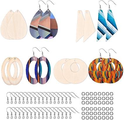 Unstained Earrings Wooden Earring Blanks Unfinished Earrings DIY Earrings Wooden Earrings Wooden Statement Earrings Custom Earrings