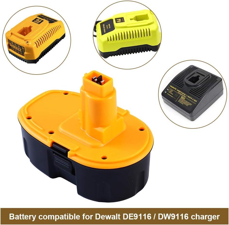 2 Packs Powayup DE9503 18V 3.6Ah Ni-MH Bater/ía Reemplazo para DeWalt DC9096 DE9096 DW9096 DW9098 DE9039 DE9095 DE9503 DW9095