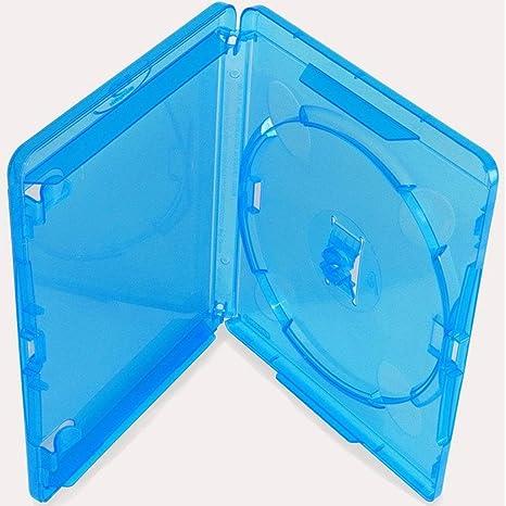 Estuche para disco Blu-ray AGI Amaray con capacidad para 1 disco, alto de 11 mm, paquete de 10 unidades