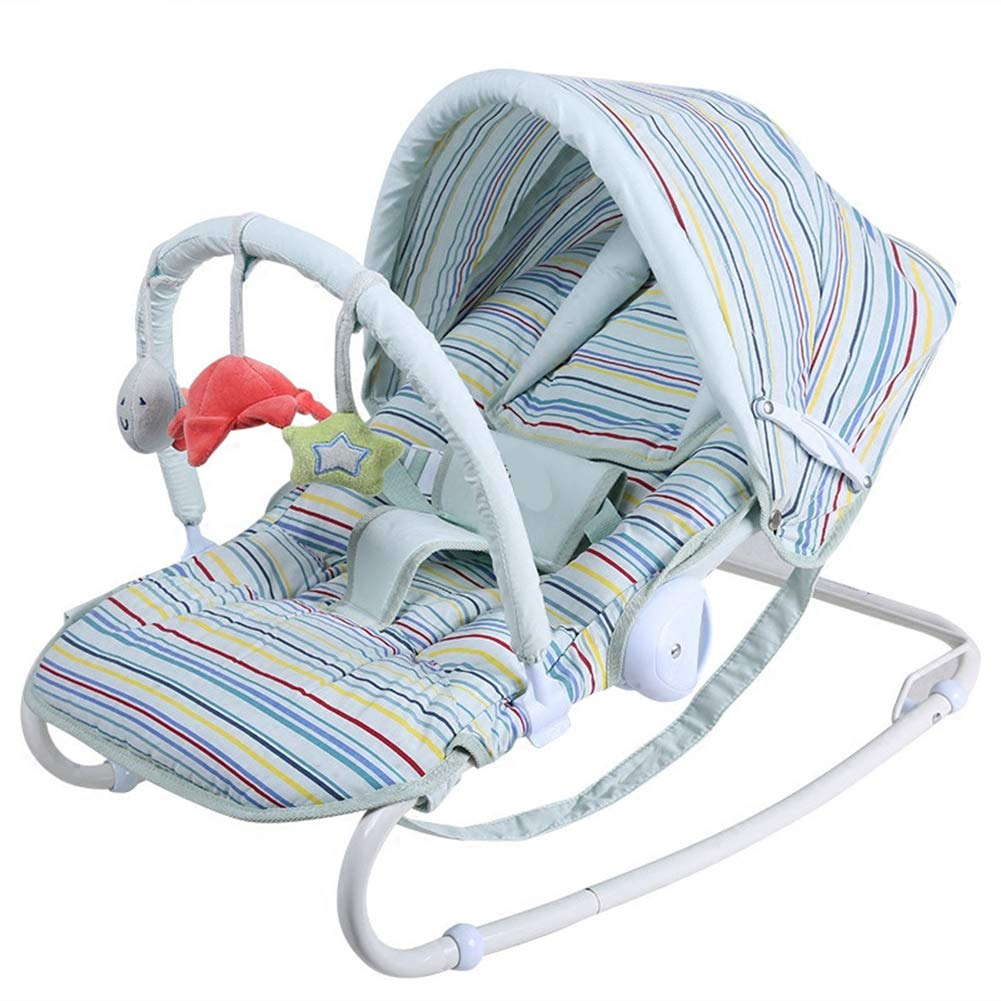Y-BBouncer Full Moon Gift Multi-Function Baby Rocking Chair Baby Rocking Chair Newborn Coax Sleeping Pillow Cradle Chair,B by Y-BBouncer