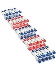 Leifheit Wäscheklammer 25er Set, mit extra weicher Komponente, Klammern mit angenehm breiter Fläche zum Zudrücken, optisch ansprechende Wäscheklammern