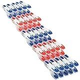 Leifheit 85660 - Pinzas de ropa, color azul y rojo