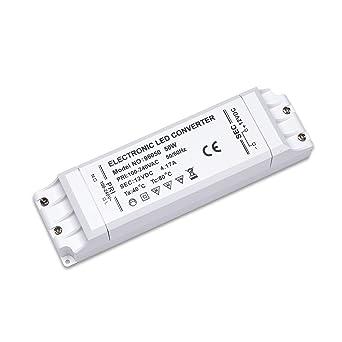 Yafido LED Transformador 220V a 12V Trafo 50W 4.17A LED Driver Fuente de Alimentación para