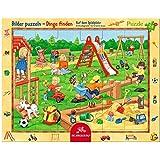 Spiegelburg Puzzle, 24-teilig, Motiv: Auf dem Spielplatz, 37x 29cm, Modell #11413