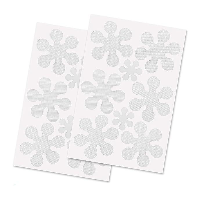 LABOTA 16PCS Anti-Rutsch-Sticker, Durchsichtige Antirutsch Aufkleber für Sicherheit in Badewanne und Dusche,transparent und s