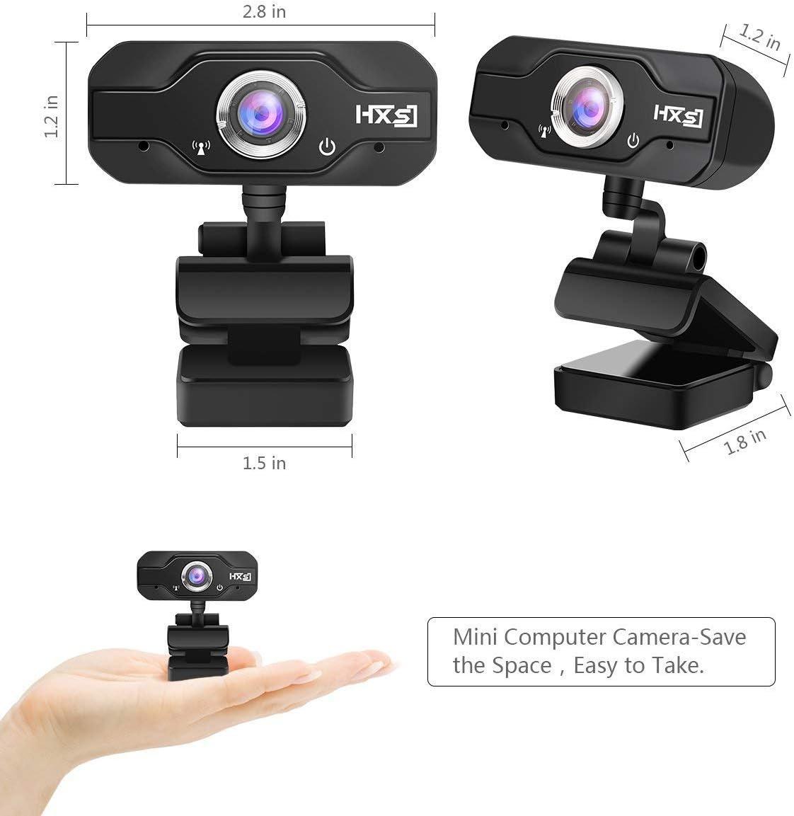 EIVOTOR 720P HD CMOS Sensor USB Webcam Adjustable Angel Computer Camera