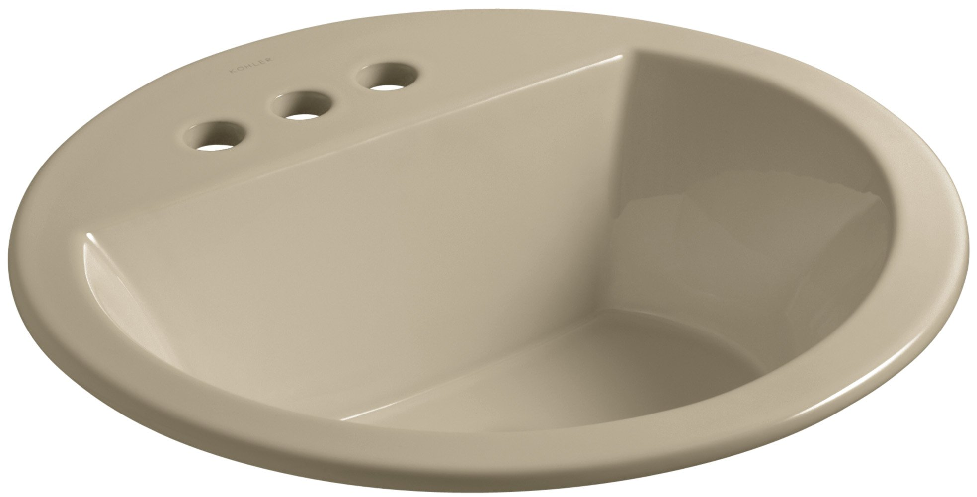 KOHLER K-2714-4-33 Bryant  Round Self-Rimming Bathroom Sink with 4'' Centers, Mexican Sand
