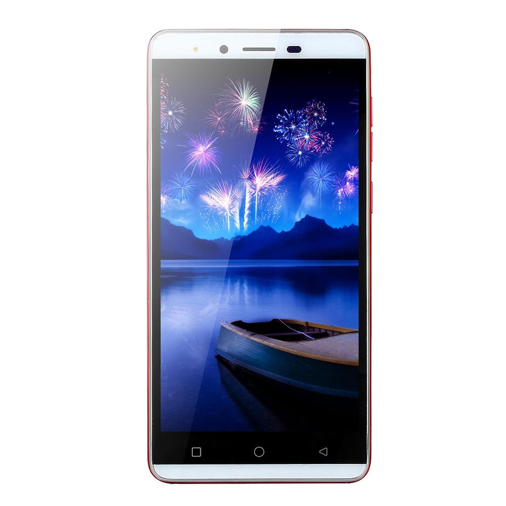 New Unlocked Smartphone - 5.0'' Android Quad-Core 512MB RAM+4G 3G Cellphone Dual Camera/SIM HD Display Mobile Phone (Red, 5.0 inches)