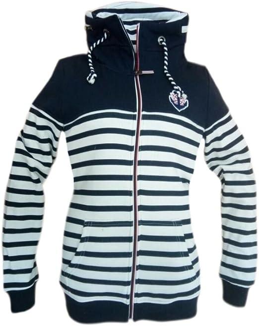 BE COOL Maritime Damen Sweatjacke Jacke Sweatshirt Anker 2
