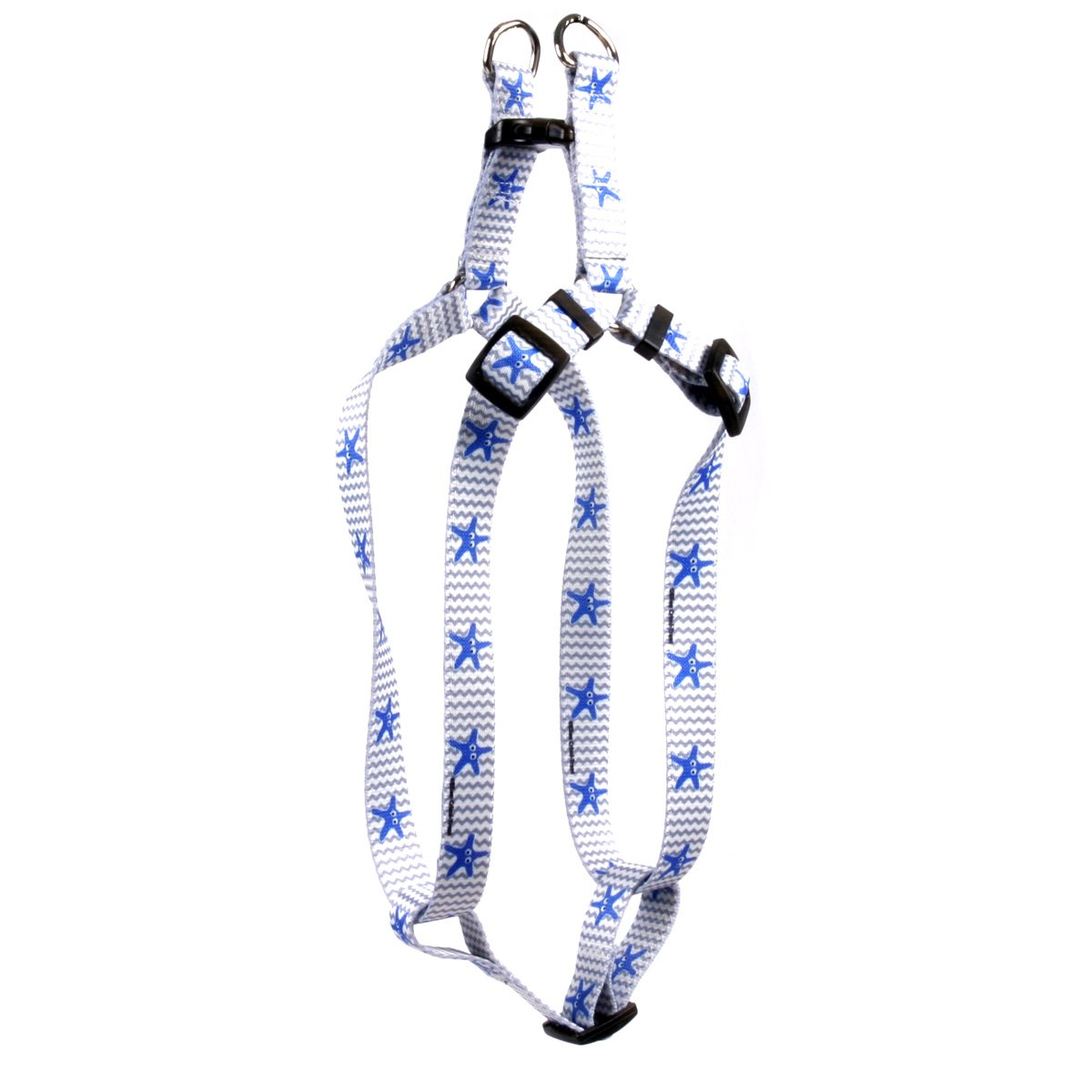 Large 25\ Yellow Dog Design Starfish Baby Step-in Dog Harness-Large-1  Wide and fits Chest Circumference of 25 to 40