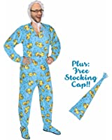 Adult Baby Rubber Ducks Footed Pajama Costume