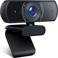 Webcam 1080P, Crosstour Full HD Webcam Computer Camera, Work for Mac, Laptop, Desktop, with Dual Built-in Microphone for…
