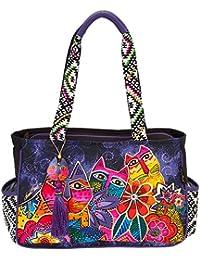 Laurels Garden Medium Tote Handbag