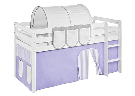 Etagenbett Vorhang Auto : Vorhang lila beige für hochbett spielbett und etagenbett