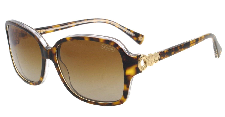 a2b4eec933541 Coach Frances HC8009 HC 8009 5049 T5 Tortoise Crystal Polarized Sunglasses  57mm  Amazon.ca  Clothing   Accessories