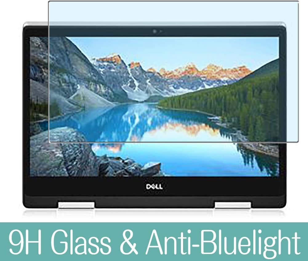 """Synvy Anti Blue Light Tempered Glass Screen Protector for Dell Inspiron 15 5000 (5491) 2-in-1 14"""" Visible Area 9H Protective Screen Film Protectors"""