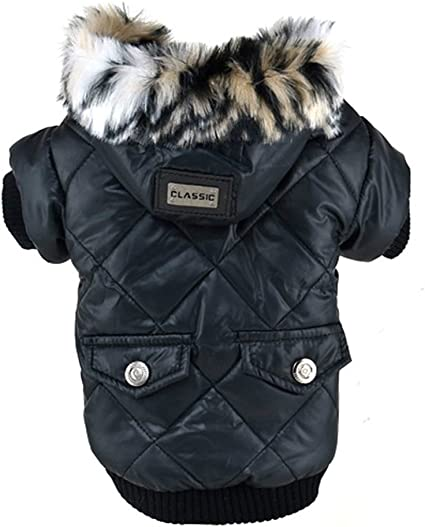 Pet Dog Puppy Winter Warm Cotton Hoodie Jacket Coat Clothes Outwear Costume