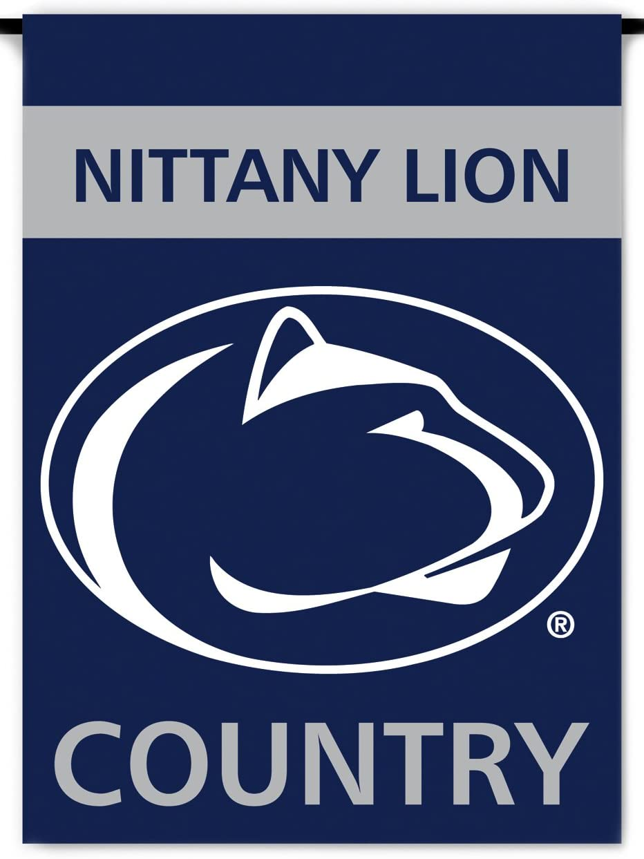 NCAA Penn State Nittany Lions 2-Sided Country Garden Flag, Team Color