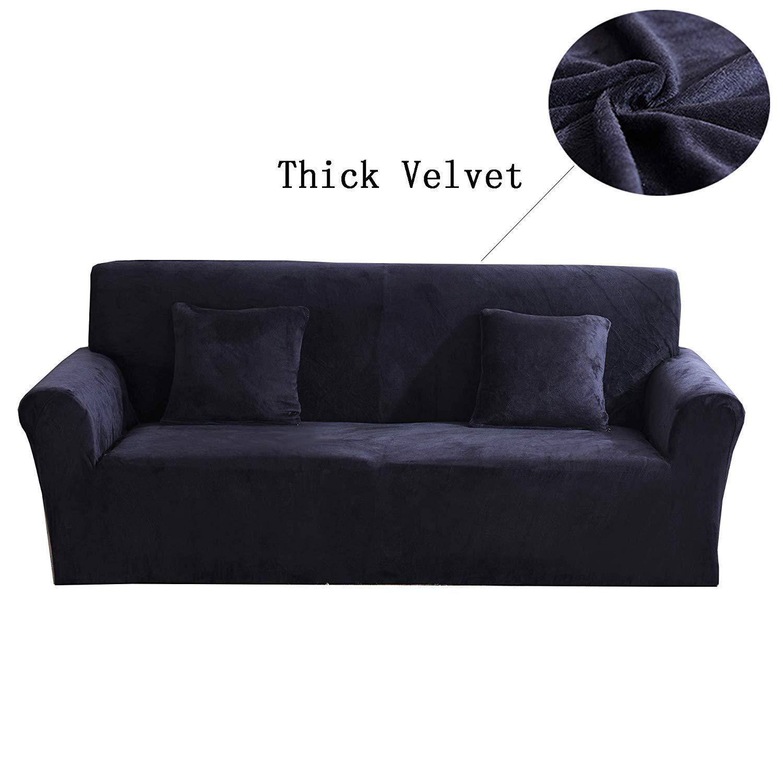 Dicke Sofa/überz/üge,1//2//3//4-Sitz-/Überwurf,Sofa Schutz/überzug aus SAMT.einfache Passform,Stretch-Material,Couch-//Bett/überwurf Size 1 Seater(90-140cm) Orange