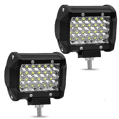 LED Pods, PCJHSP LED Light Bar 4 Inch 144W Waterproof Spot Flood Combo Beam LED Cubes Work Light Driving Fog lights for Jeep ATV UTV SUV Truck Boat Marine (2 Pack): Automotive