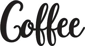Coffee Wall Word Sign Coffee Bar Wall Decor Farmhouse Kitchen Wood Word Art