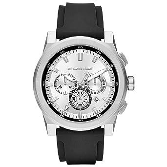 10111dfb2afb Michael Kors Reloj Analogico para Hombre de Cuarzo con Correa en Silicona  MK8596  Amazon.es  Relojes